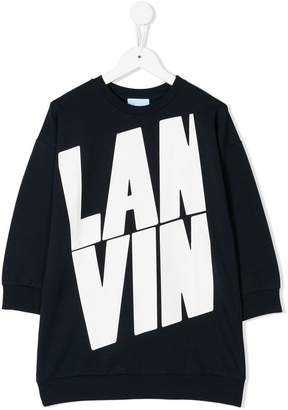 Lanvin Enfant branded sweatshirt dress