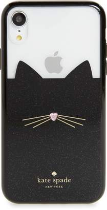 Kate Spade jeweled glitter cat iPhone X/Xs/Xs Max & XR case