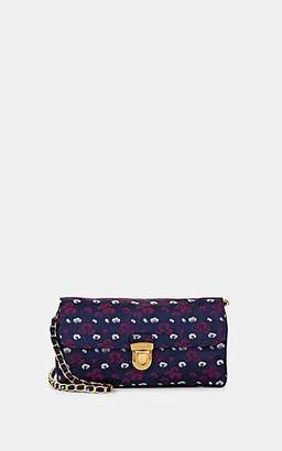 Prada WOMEN'S DONNA FLORAL PRINT SHOULDER BAG - PURPLE