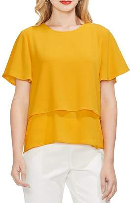 Vince Camuto Tiered Crepe Blouse