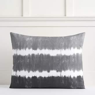 Pottery Barn Teen Tie Dye Stripe Organic Sham, Standard, Faded Black