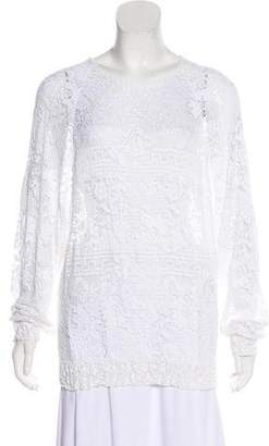 Isabel Marant Crocheted Long Sleeve Top