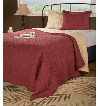 """Rizzy Home Rizzy home BT1410 RED 90""""x92"""" Cotton voile Quilt"""