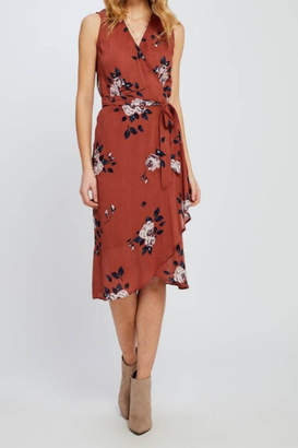 Gentle Fawn Coral Wrap Dress