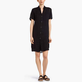 James Perse LIGHTWEIGHT LINEN SHIRT DRESS