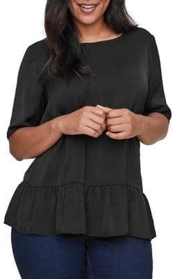 Junarose Plus Snerle Short-Sleeve Top