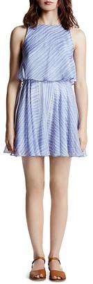 HALSTON HERITAGE Printed Chiffon Dress $295 thestylecure.com