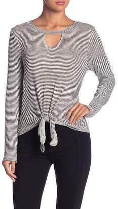 Olive + Oak Olive & Oak Nelson Striped Tie Front Sweater