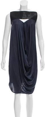 Zero Maria Cornejo Two-Tone Draped Dress