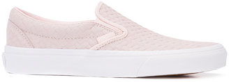 Vans Embossed Woven Classic Slip-On sneakers $60 thestylecure.com