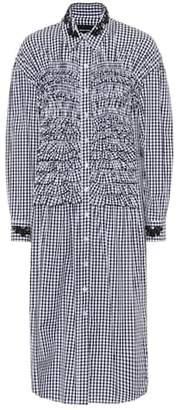 Simone Rocha Embellished gingham cotton dress