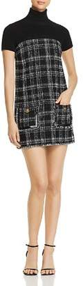 Elisabetta Franchi Tweed Combo Mini Dress