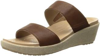Crocs Women's A Leigh 2 Strap Mini W Wedge Sandal