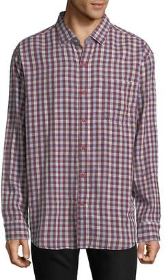 Tommy Bahama Men's Copatana Plaid Cotton Casual Button-Down Shirt