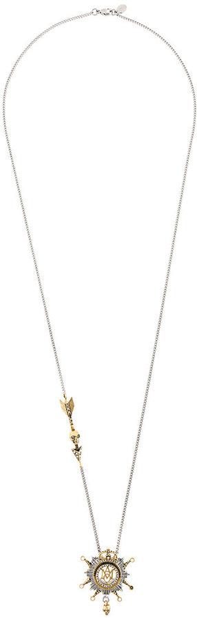 Alexander McQueenAlexander McQueen insignia pendant necklace