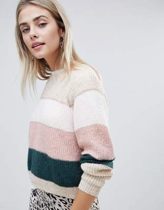 Only stripe knitted sweater
