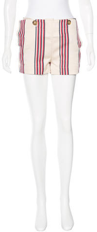 Vivienne WestwoodVivienne Westwood Anglomania Striped Mid-Rise Shorts