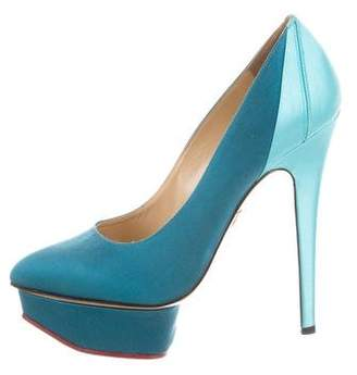 Charlotte Olympia Pointed-Toe Platform Pumps
