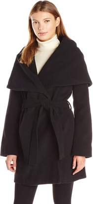 T Tahari Women's Marla Wool Coat with Oversized Collar New Name: Marylin