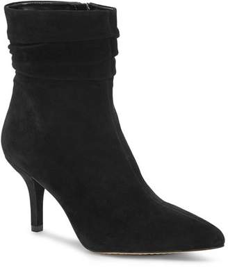 Vince Camuto Women's Abriannie Pointed Toe Suede Mid-Heel Booties