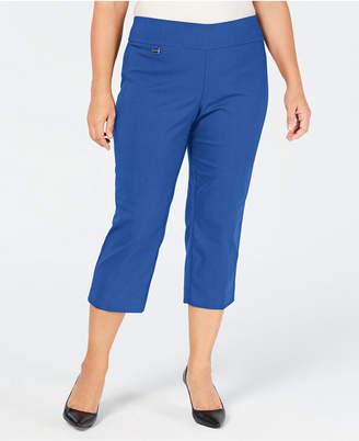 Alfani Plus Size Tummy-Control Pull-On Capri Pants