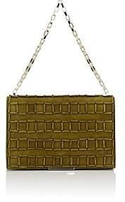 Tomasini Women's Square-Detailed Shoulder Bag-Bamboo Green