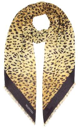Valentino Leopard-printed scarf