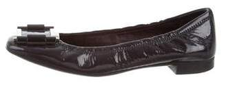 Prada Patent Leather Square-Toe Flats