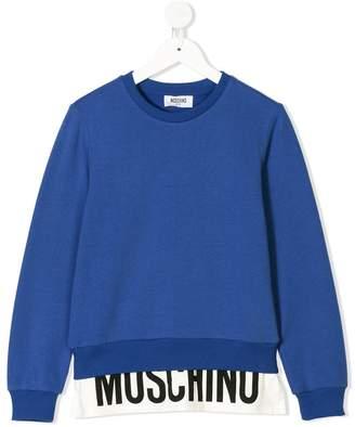 Moschino Kids TEEN logo printed sweatshirt