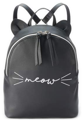 "T-Shirt & Jeans T Shirt & Jeans Meow"" Backpack"