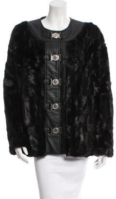 Alice by Temperley Collarless Fur Jacket $145 thestylecure.com