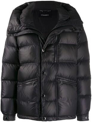 Dolce & Gabbana oversized collar padded jacket