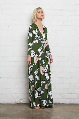 Rachel Pally Long Sleeve Full Length Caftan - Calla Print