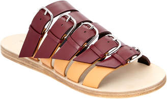 Balenciaga Bicolor Belted Leather Sandal
