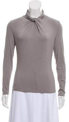 Armani Collezioni Knotted Long Sleeve Top