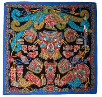 Hermes Sous l'Egide de Mars Cashmere Silk Shawl