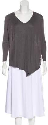 Joie Lace-Paneled Asymmetrical Sweater