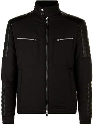 HUGO BOSS Faux Leather Detail Jacket
