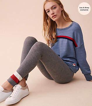 Lou & Grey Sundry Striped Yoga Pants