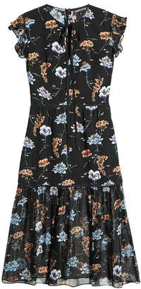 Markus Lupfer Printed Silk Dress
