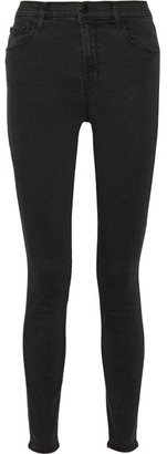 J Brand - Carolina High-rise Skinny Jeans - Black $190 thestylecure.com