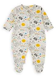 The Bonnie Mob Infants' Rainbow-Print Cotton Footed Playsuit