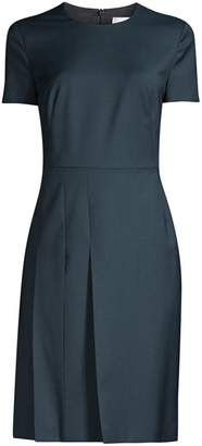 BOSS Domana Short Sleeve Pleated Dress