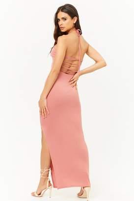 Forever 21 Strappy-Back Halter Maxi Dress
