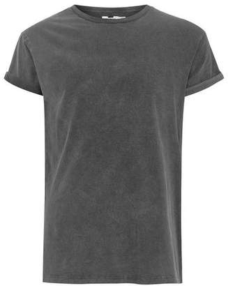 Topman Mens Black Acid Wash T-Shirt