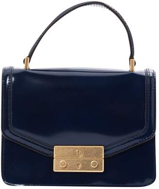 Tory Burch Navy Leather Clutch Bag