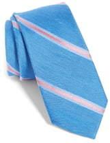 The Tie Bar Leland Stripe Silk & Linen Tie