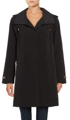 Gallery Petite Hooded A-Line Rain Jacket