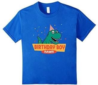 Birthday Boy T-Shirt Dinosaur Raptor T-Rex Boys Shirt