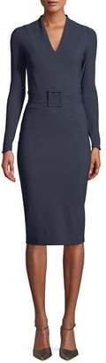 Chiara Boni Evalda Long-Sleeve Dress w/ Belt